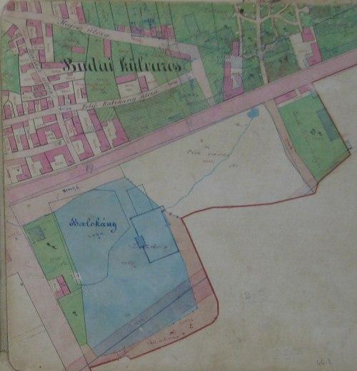 A Balokány környéke a Budai külvárosban egy 19. sz. végi térképen. (Kattintással nagyítható.)