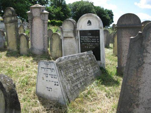 A neológ temető részlete.