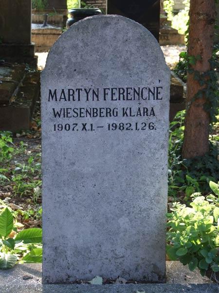 Wiesenberg Klára sírja a pécsi zsidó temetőben.