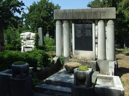 A Fodor család sírhelye a pécsi zsidó temetőben.
