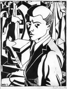 Király Lajos: Önarckép (1940)