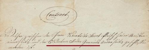 Az Pécsi Zsidó Község első fennmaradt említése.