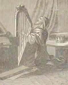 Korabeli imakönyv illusztrációjának részlete.